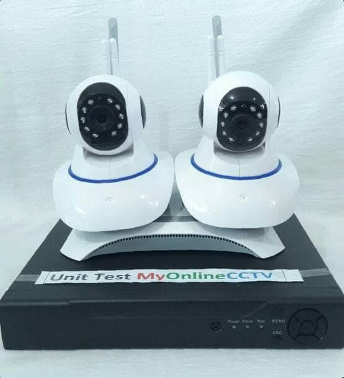 Paling Murah Paket 2 IP Camera CCTV Wireless Wifi Pasang Sendiri + A