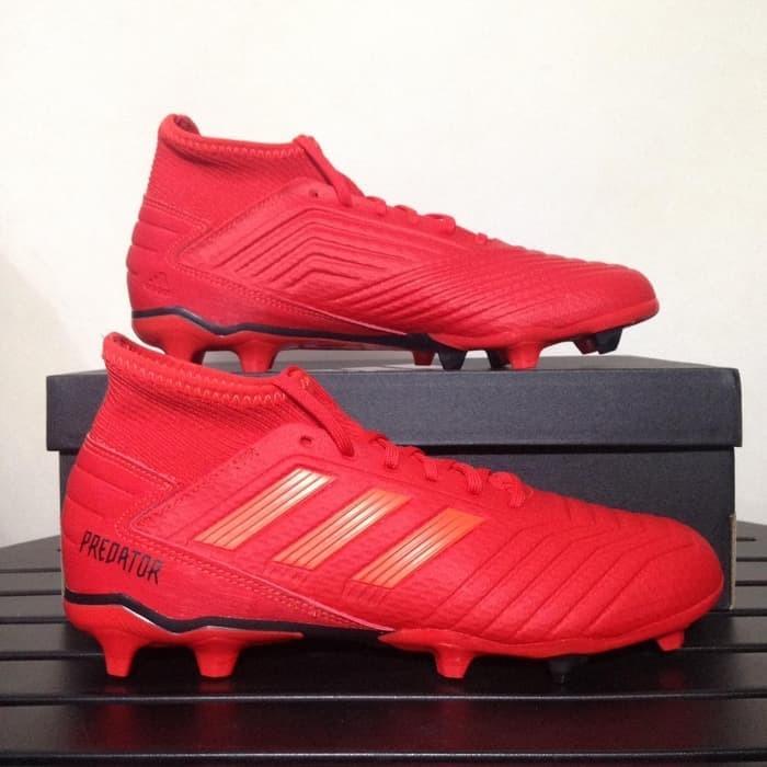 Jual Sepatu Bola Adidas Predator 19 3 Fg Active Red Bb9334
