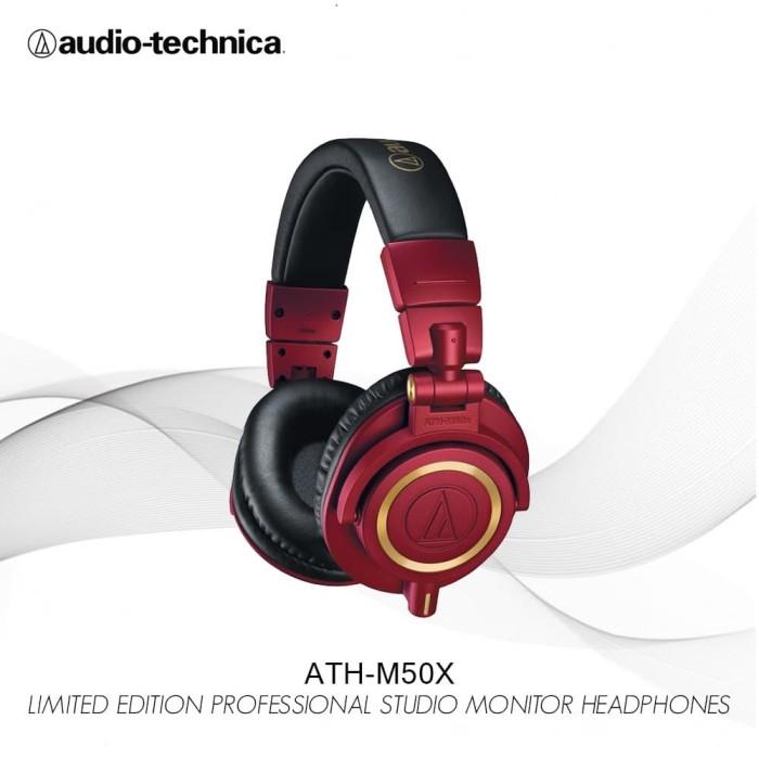 harga Audio-technica ath-m50x red - limited edition professional studio Tokopedia.com