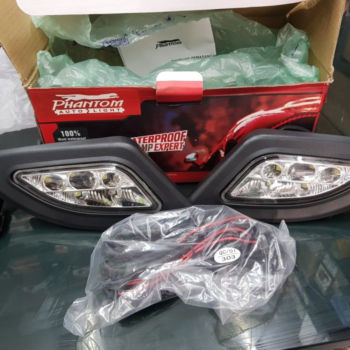 Lampu led drl honda jazz 2008-2010