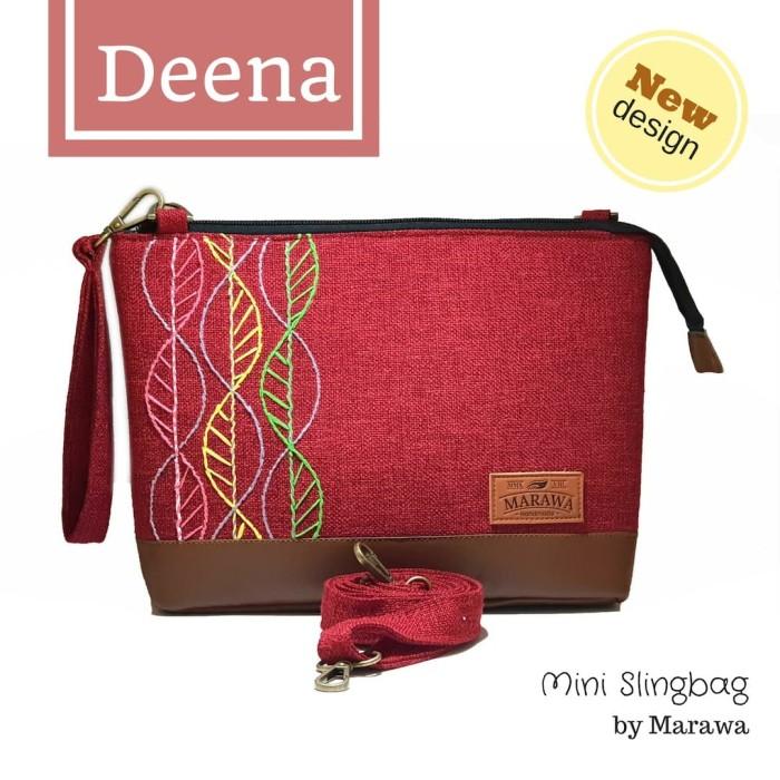Tas Selempang Branded Wanita - Tas Marawa Sling Bag Cantik Murah - Merah c9c0212780