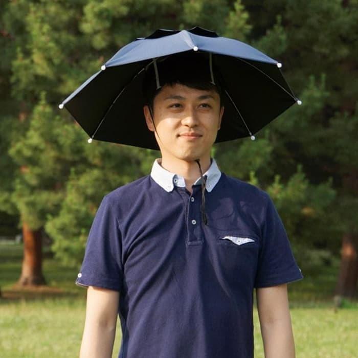 Foto Produk Payung Topi / Topi Payung / Payung Kepala diameter 50 cm dari evencio shop