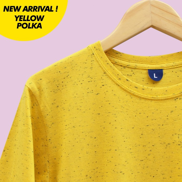 harga Distro kaos polos baju oblong yellow polka pria wanita cewe cowo Tokopedia.com