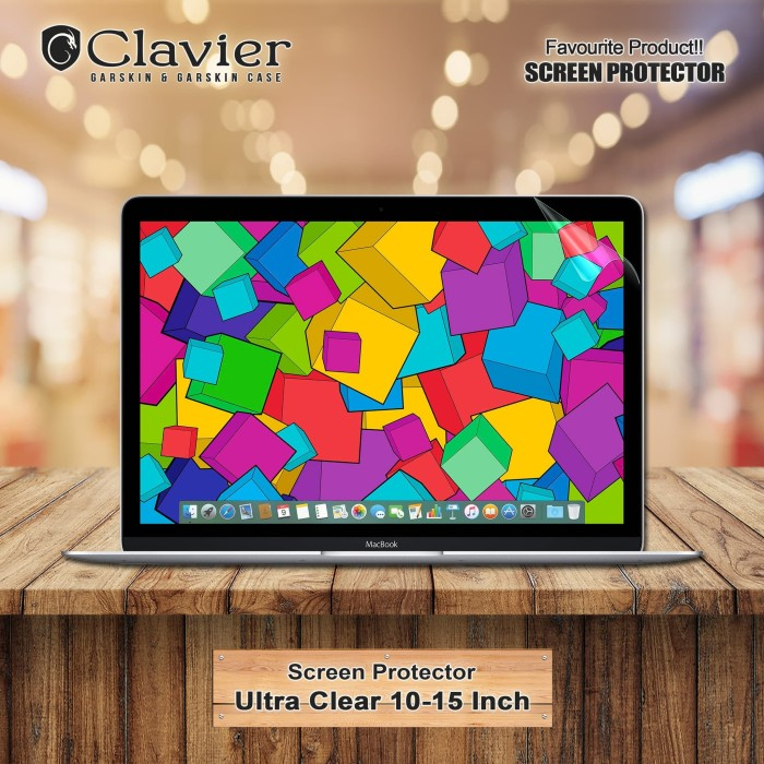 Foto Produk Crystal Clear Screen Protector Laptop-Garskin Laptop-Garskin Hp dari Clavier