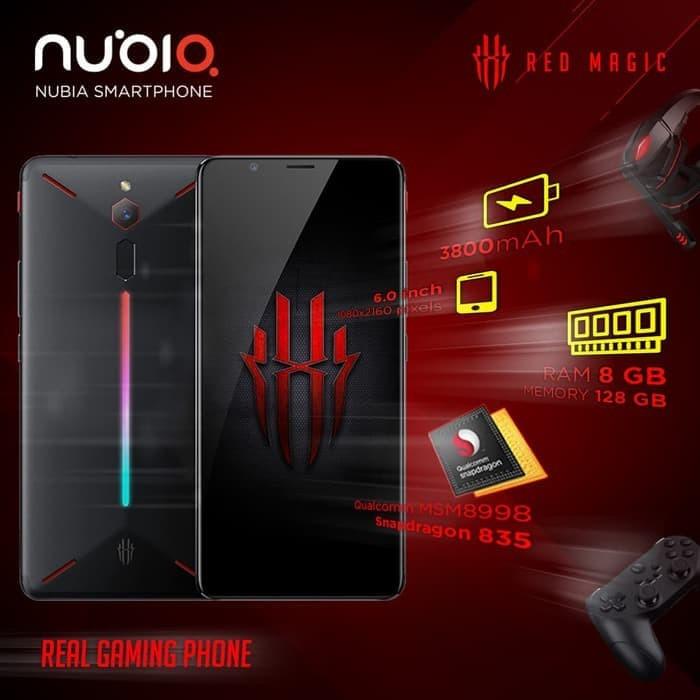 Jual Real Gaming Phone Zte Nubia Red Magic Ram 8 128 Gb Handphone