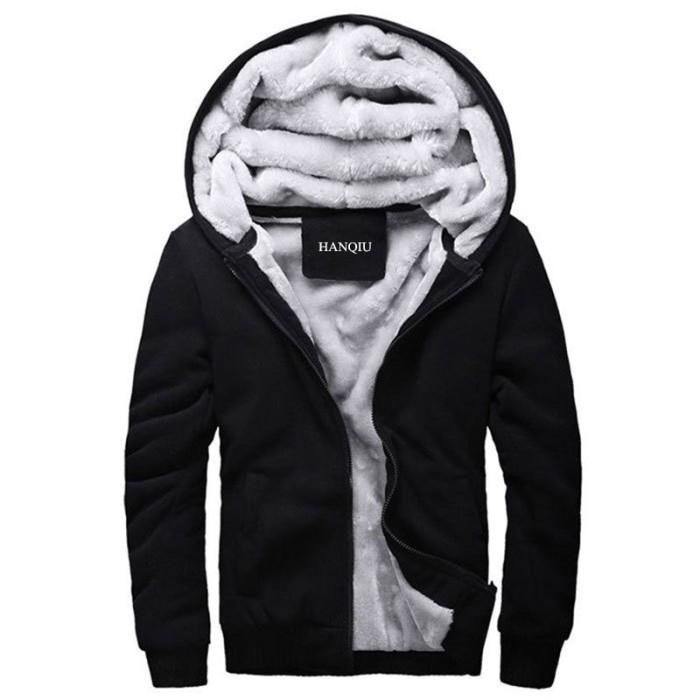 Jual Original Hitam Hoodies Pria 2018 Musim Dingin Jaket Fashion ... 26e7696bb2