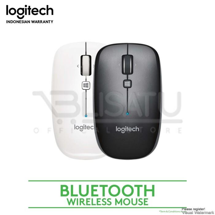 Logitech M557 Bluetooth Wireless Mouse - Hitam