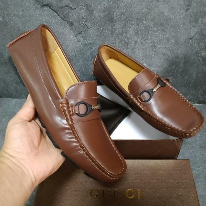 Jual Sepatu pria loafers kulit asli gucci - myshoeid  6294740219
