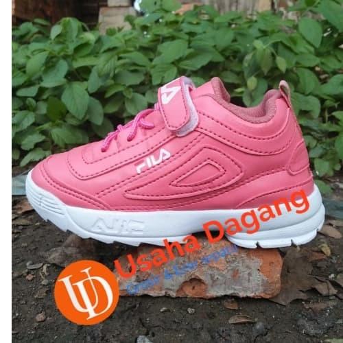 Sepatu Fila Disruptor Anak Perempuan Terbaru Murah warna pink 30-34 - 30 092869318e