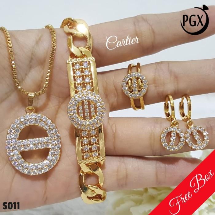 harga Set perhiasan xuping lapis emas - anting cincin kalung gelang s011 Tokopedia.com