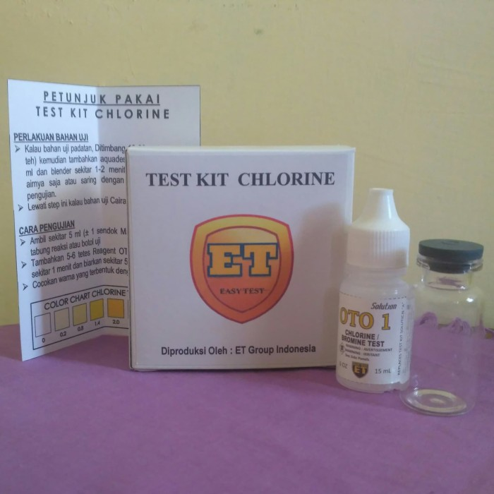 Foto Produk Test Kit Chlorine - tes klorin - Testkit ET dari easytest