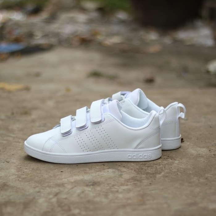Jual Sepatu Sneakers Adidas ORIGINAL Neo Advantage Velcro Full White ... 8aeb1c7704