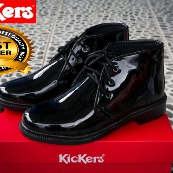 ... harga Sepatu pdh tni polri kickers grade orie kulit asli kilap lack  Tokopedia.com 10669fd74a