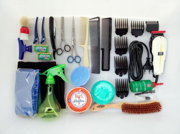 PAKET HEMAT usaha alat Pangkas rambut Cukur Barbershop peralatan murah de50c7153b