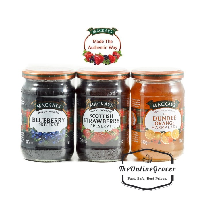 Mackays Scottish Jam - Selai Skotlandia 340gr - Blueberry