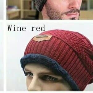 kupluk rajut beanie   topi pria import murah   topi winter lembut - Hitam e5478fe68c