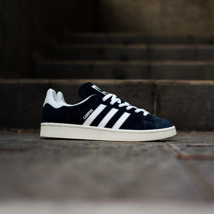 Jual Sepatu Pria Casual Sneakers Adidas Original Campus Hitam