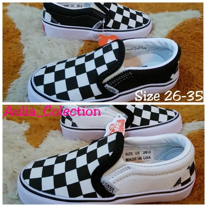 Jual Sepatu Vans Slip On Catur Kids Ria Wanita Good Quality