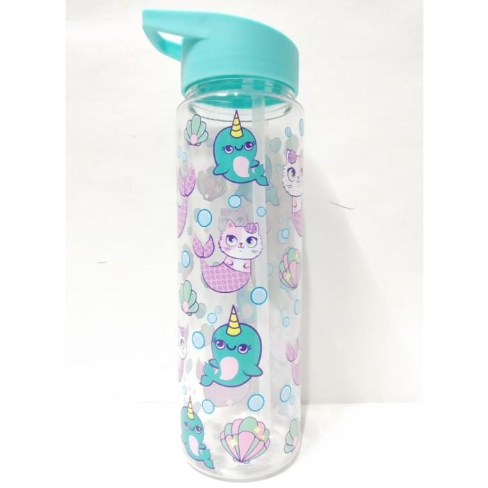 Botol Minum Karakter Lucu Anak Perempuan BPA Free 600 ml Warna Biru