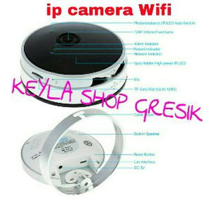 New Model Spy Ip cam Camera Kamera cctv wireless Wifi koneksi intern