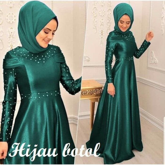 Jual Anabel Dress Pesta Satin Velvet Gaun Pesta Terbaru Murah
