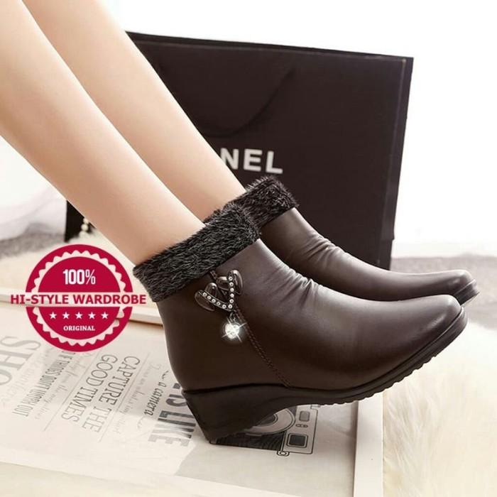 Jual Sepatu Boot Winter Musim Dingin Salju Wanita Lady Korea