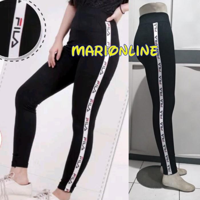 Jual Celana Legging Panjang Import Hitam List Fila Jakarta Barat Marionline Tokopedia