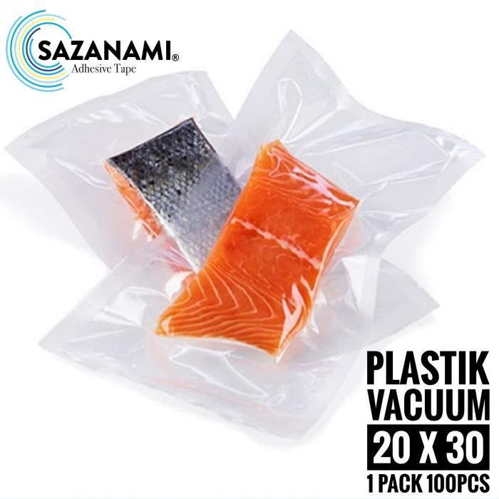 harga Plastik vacuum 20 x 30 vacuum bag plastik vacum foodpack 1pack 100pcs Tokopedia.com