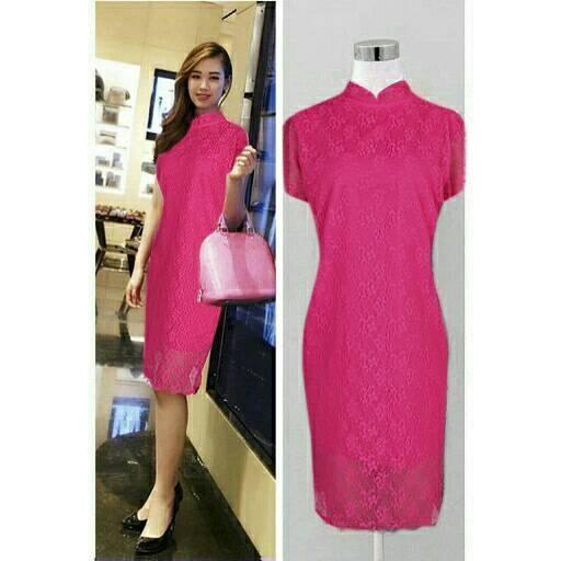 poppi dress elegant pink