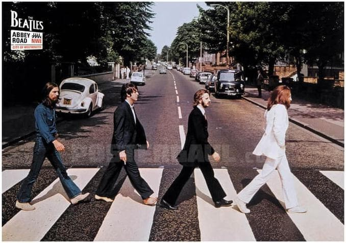Poster THE BEATLES #13: ABBEY ROAD - Jumbo size 50 x 70 cm