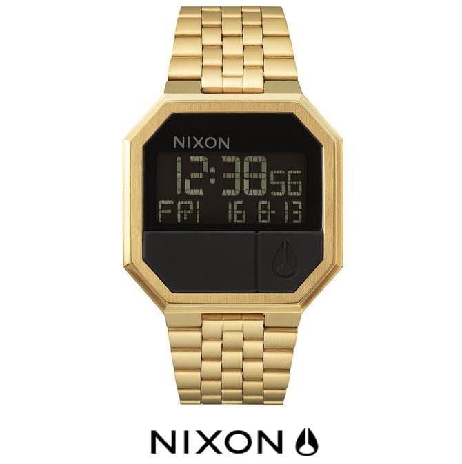 Jam Tangan Nixon A15850200 Re-Run All Gold Original