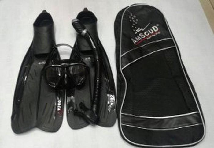 Alat Selam merk American Scuba paket FIn sepatu katak, Kacam BCsur162