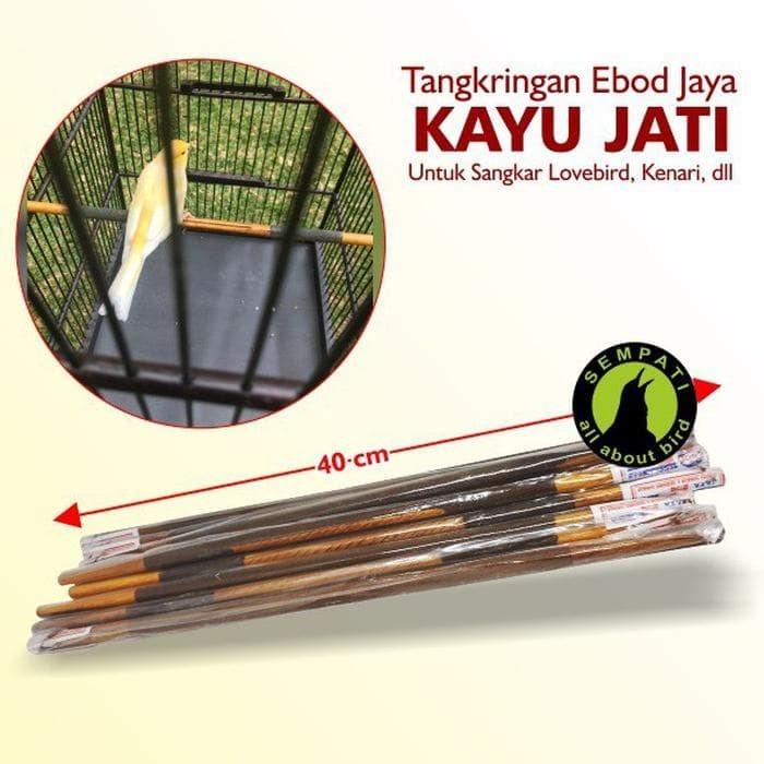 harga BEST SELLER TANGKRINGAN SANGKAR BURUNG KENARI LOVEBIRD JATI EBOD JAYA Tokopedia.com