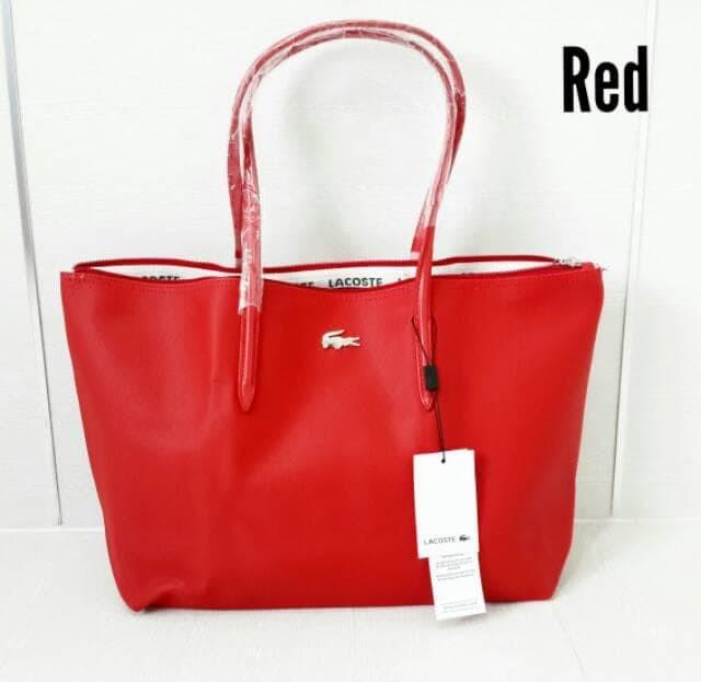 Jual WARNA LENGKAP Tas Lacoste Zip Tote Bag Basic - DEFRIA SHOP ... 559310c87d