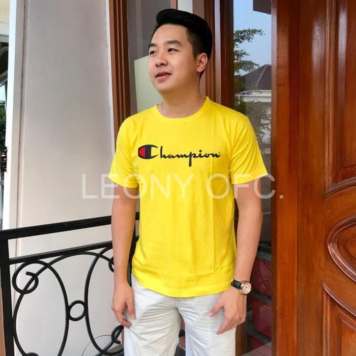 Foto Produk T-shirt / yellow tee / tumblr tee / baju champion / kaos champion / dari Leony Official Store