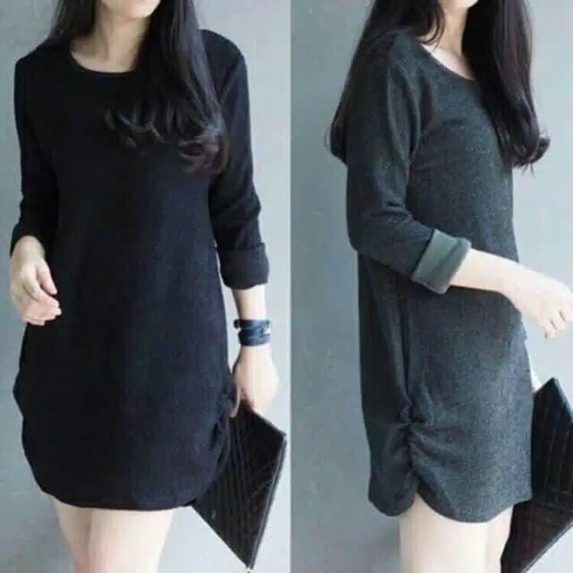 Donela dress/dress lengan panjang/dress laris