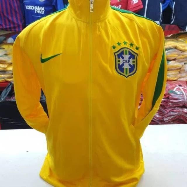 Jaket bola Brazil home Grade ORI import