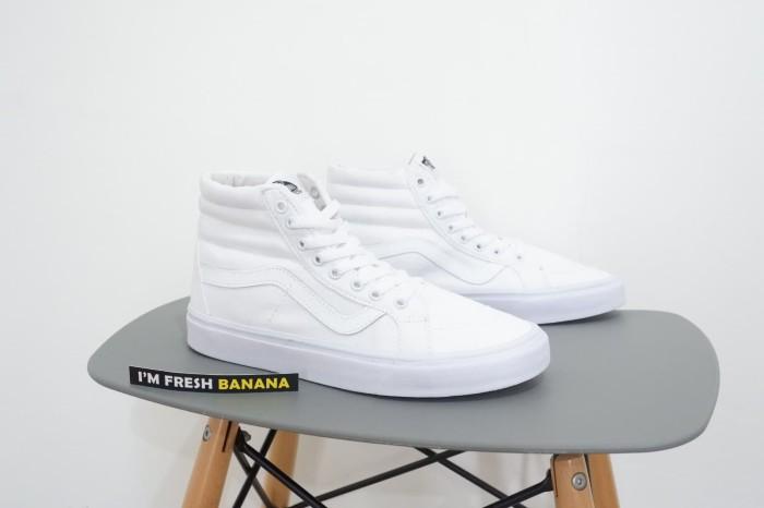 ... harga Sepatu vans sk8 sk 8 hi high full triple white putih polos dt  premium Tokopedia 0c0d774b9f