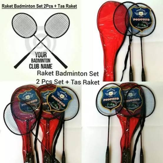 Raket badminton anak (isi 2 pcs)/raket bulutangkis anak