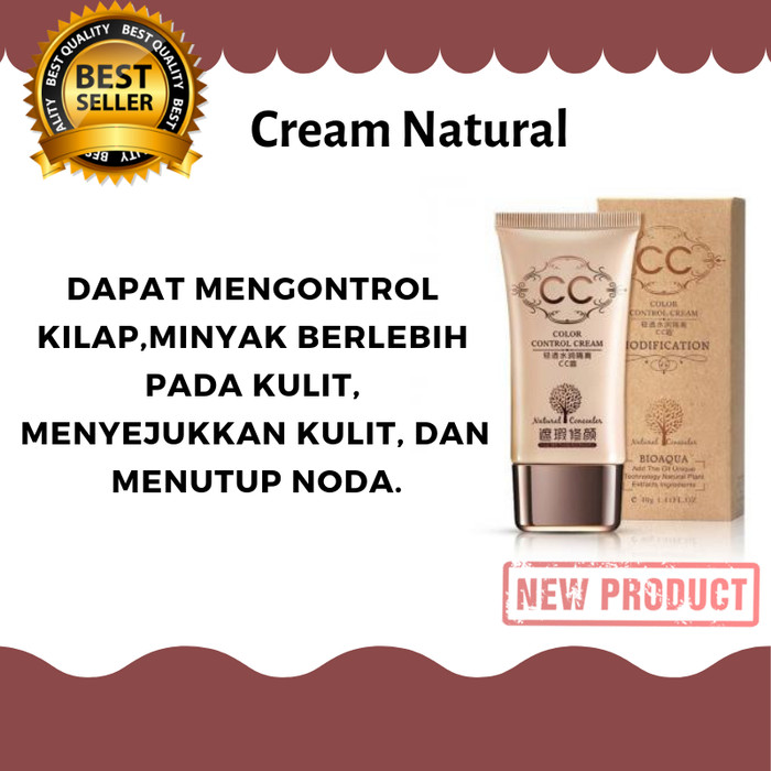 Bioaqua Cc Cream Bb Cream Natural Moisturizing 40G Ivory White