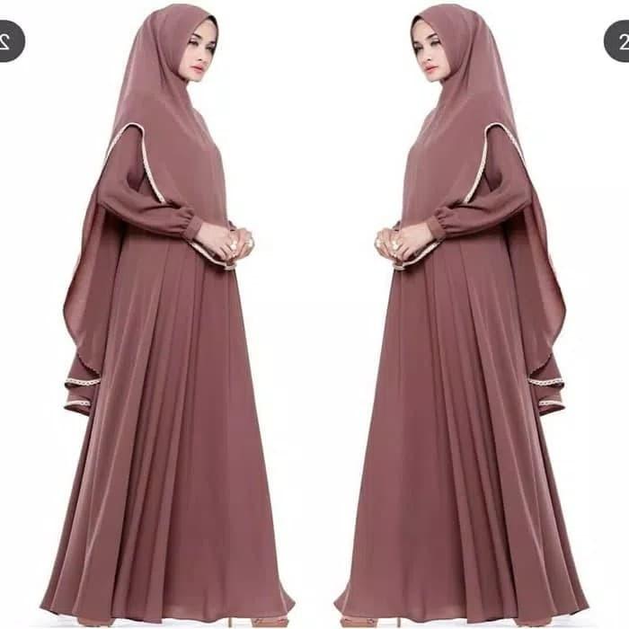 Jual Th Maxi Dress Syari Gamis Syari Baju Muslim Syari Terbaru Indriana Jakarta Pusat Nelly Collections Tokopedia