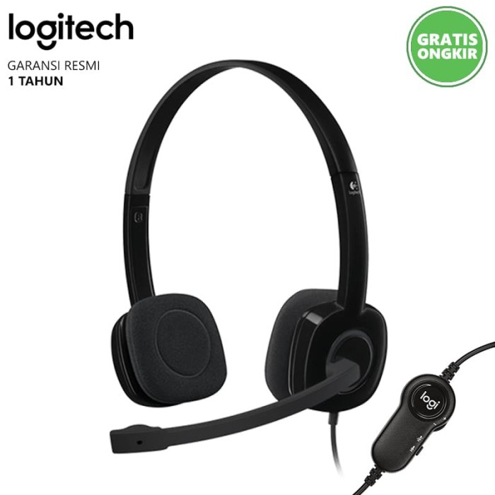 harga Headset stereo logitech h151 hitam Tokopedia.com