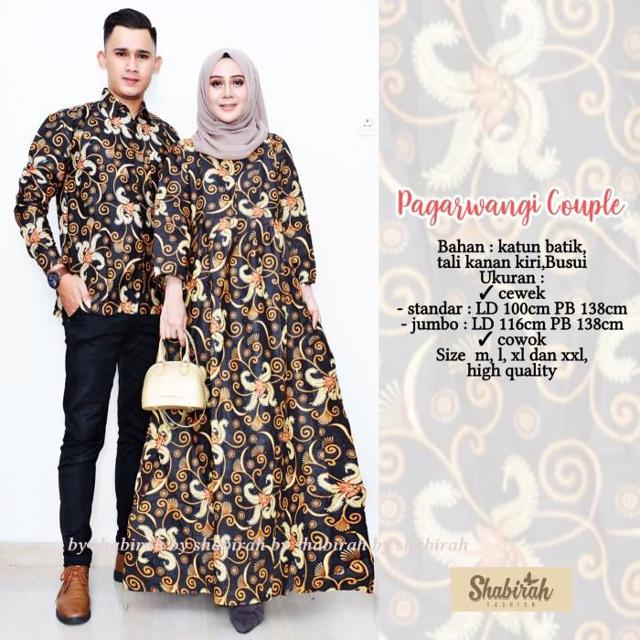 Jual Ms Sarimbit Gamis Batik Solo Sogan Kondangan Pagawangi Couple