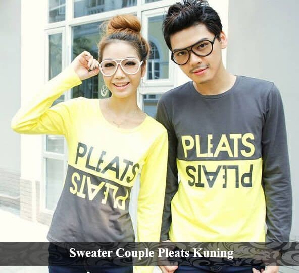Foto Produk sweater couple pleats | sweater pasangan | sweater kembar dari koleksi baju couple
