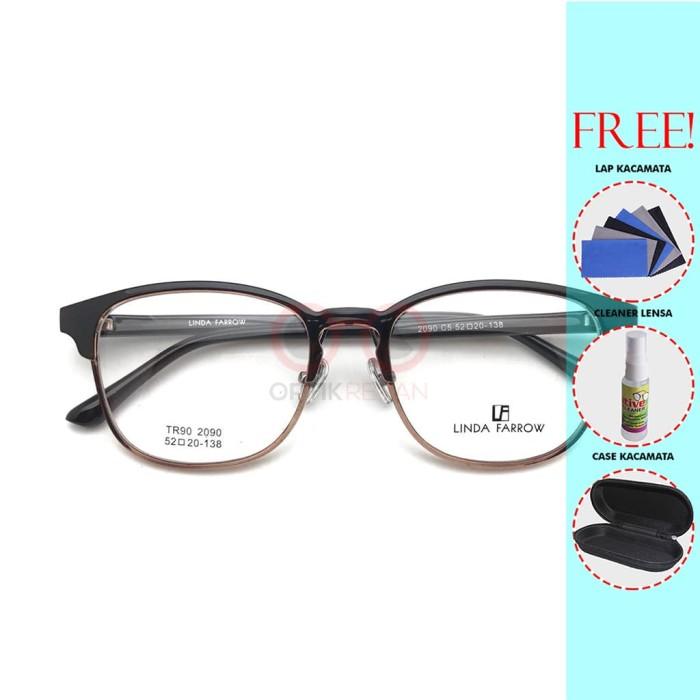 Jual Frame Kacamata LF Linda Farrow 2090 Pria Wanita Free Lensa Minus -  varian D - optikrevan  d8e532c894
