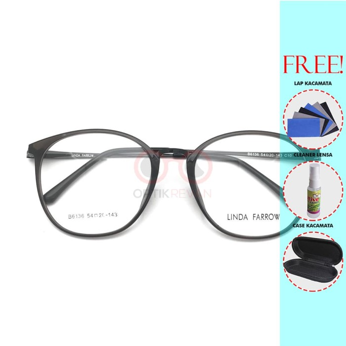 Frame Kacamata Linda Farrow 6135 Pria Wanita Free Lensa Minus - varian A 0d4425719c