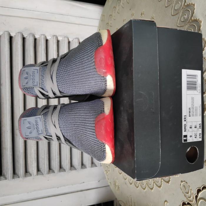 0aa13a0dd Jual ADIDAS NMD XR1 GREY SOLAR RED size 42⅔ - vikvik