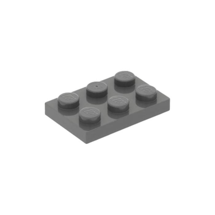 LEGO Lot of 12 Light Bluish Gray 1x2 Door Rail Plates Pieces