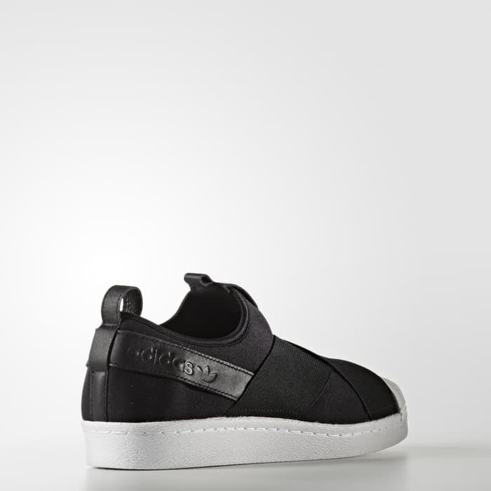 adidas superstar slip on full black