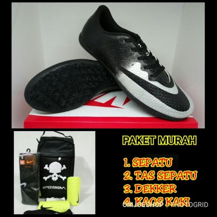 Jual Paket Murah Sepatu Futsal Nike Mercurial CR7 Black Silver ... 66770862af